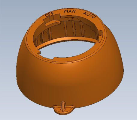 Cap with thumb tab + Selector options