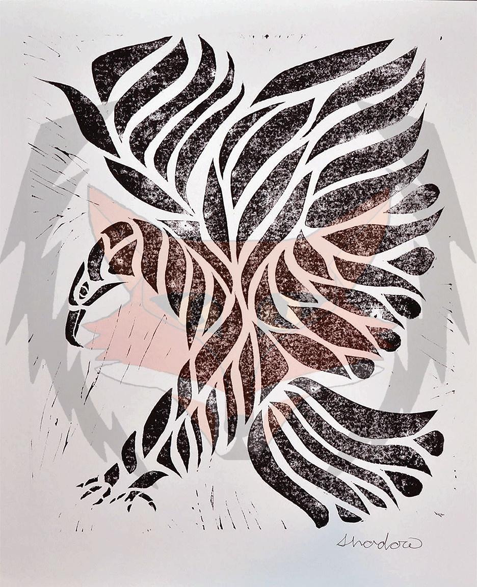 Tribal Eagle Print