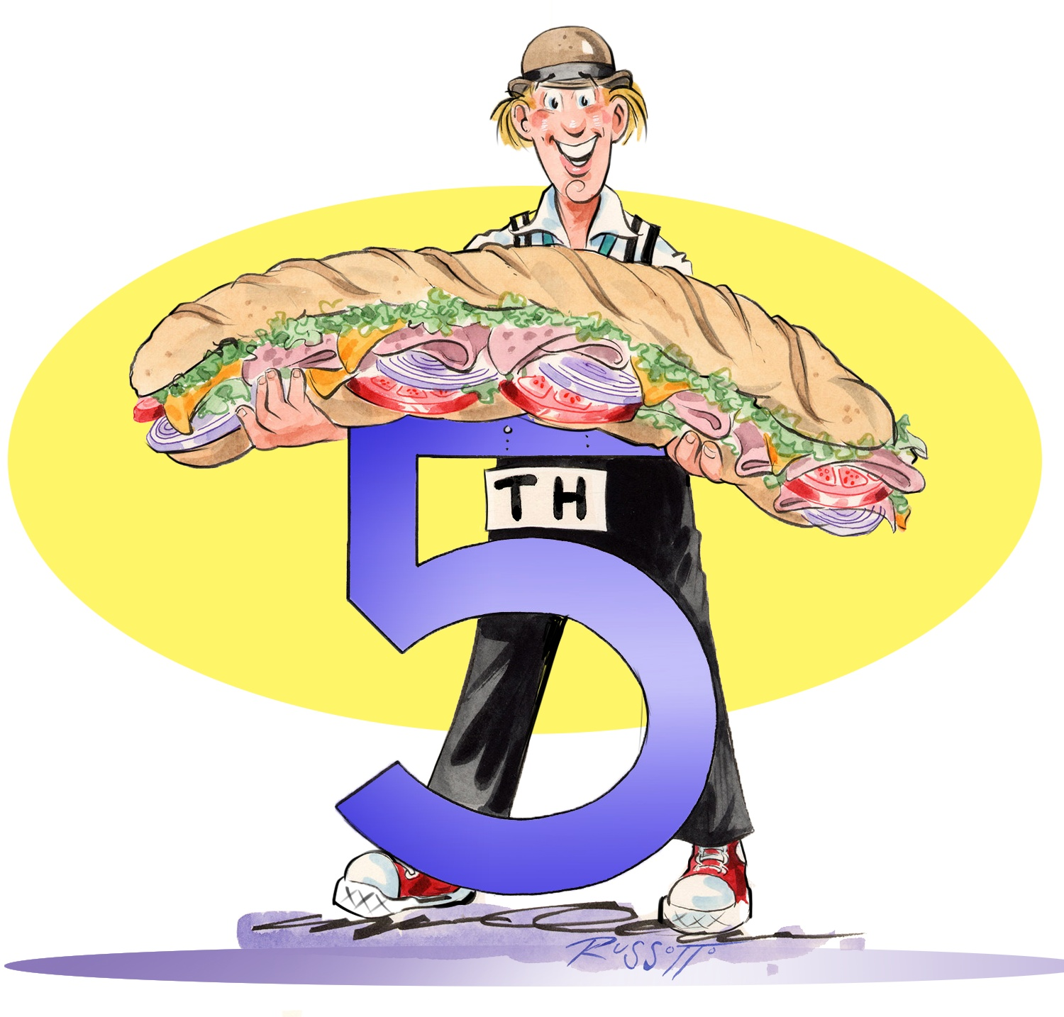 Cartoon Mascot created for Fresh on 5th, a Deli in Miami Beach