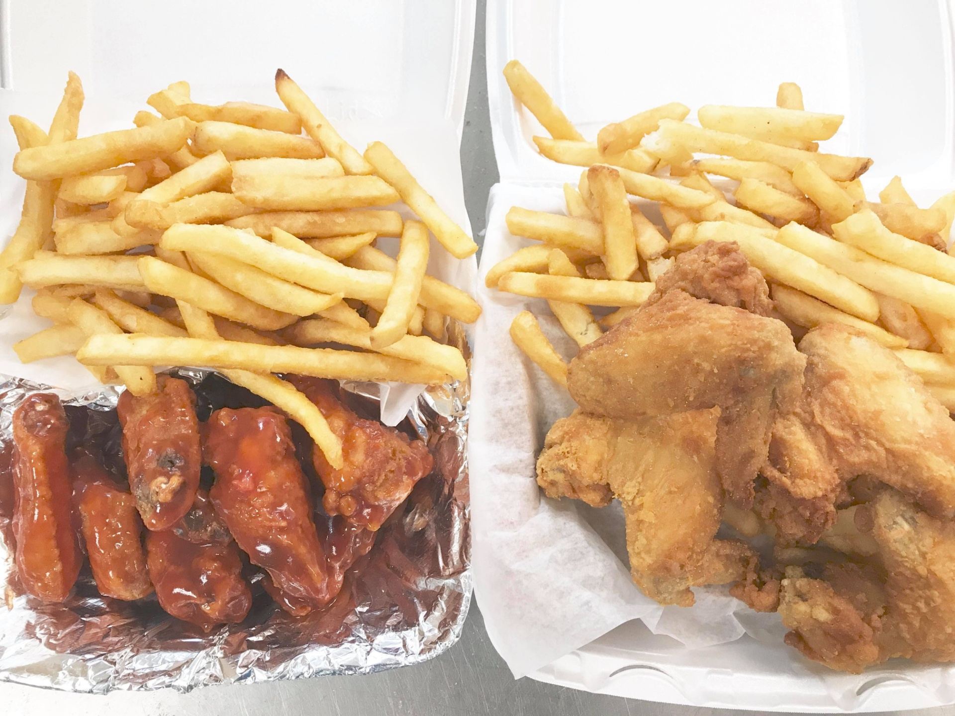 Chicken Wings/Drumsticks With Fries