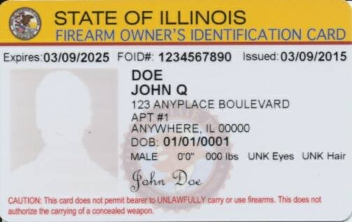 Firearm Owner ID Card