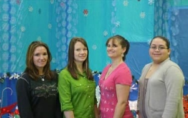 Desi, Mary, Kristi, and Danielle