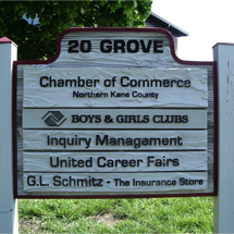 20 Grove Business Sign
