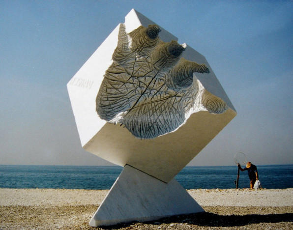 Creation, marble, Marina di Carrara, Italy