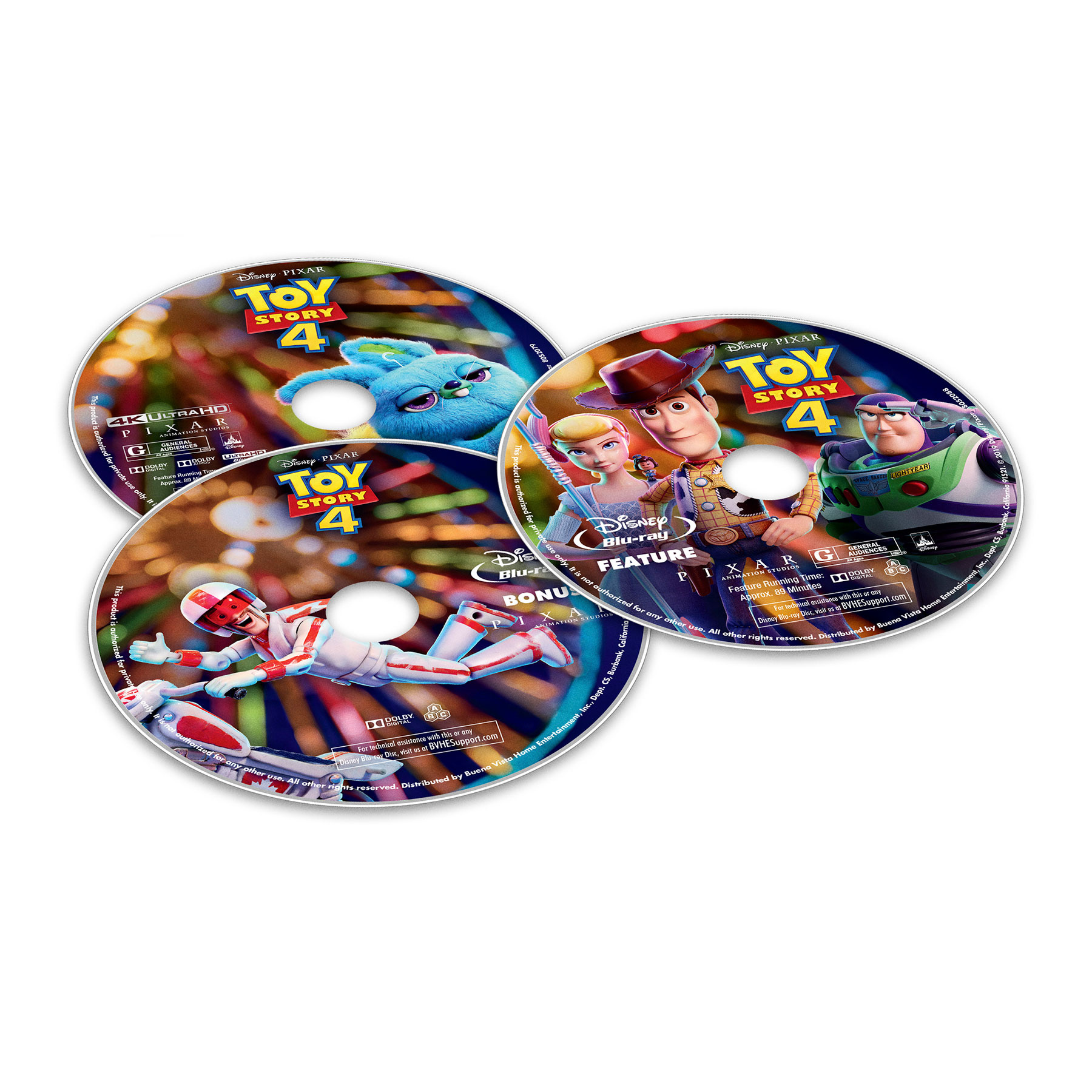 Toy Story 4 DVD Labels