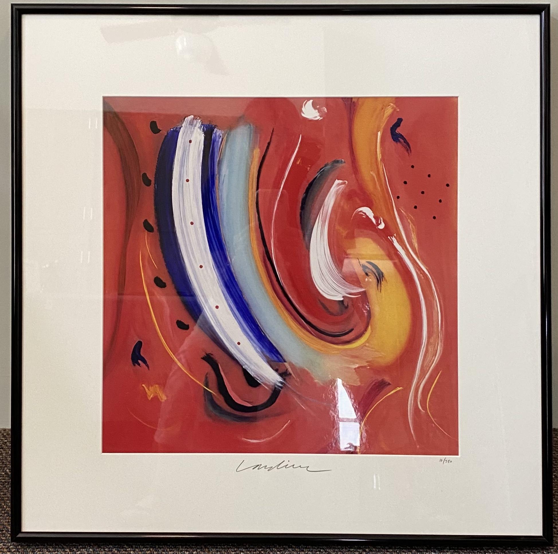 "Geoffrey Lardiere River of My Soul Lithograph 17"" X 17"" $645. SOLD"
