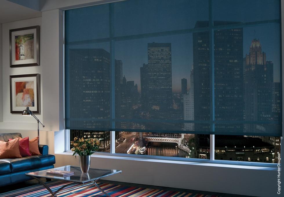Solar Screen / Bloqueo rayos UV  Ofrecen diferentes opciones de Tejidos, texturas y colores.