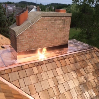Copper Chimney with Pan