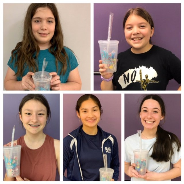 January Spotlight Students Molly Musumeche Madison Allgood Anne Marie Blanc Kyra Bergeron Emily Geoffroy