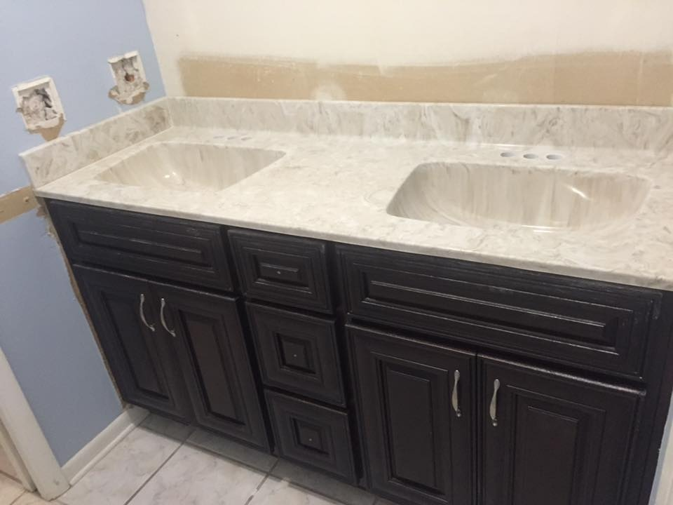Bathroom Vanity Top Double Bowl