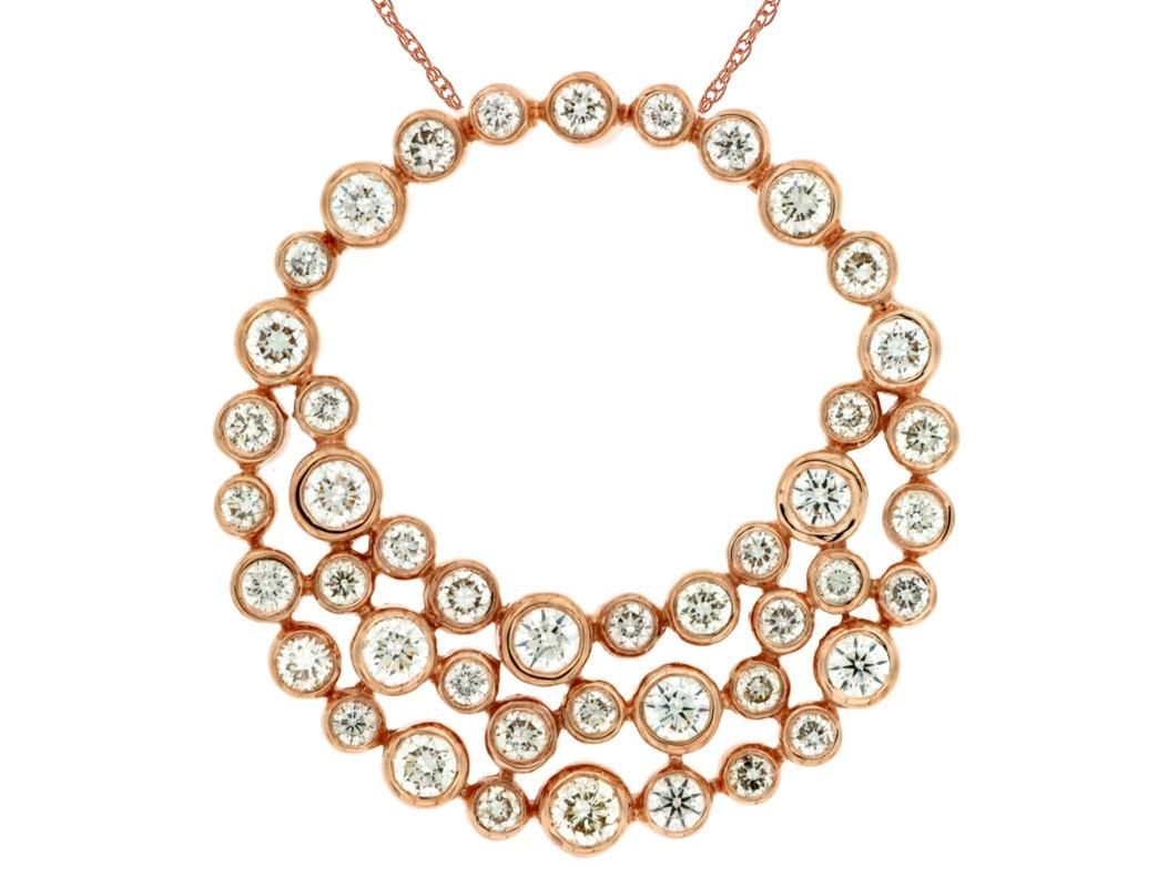 Rose Gold Circular Diamond Necklace