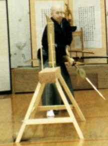 Power Sensei demonstrating tameshigiri.