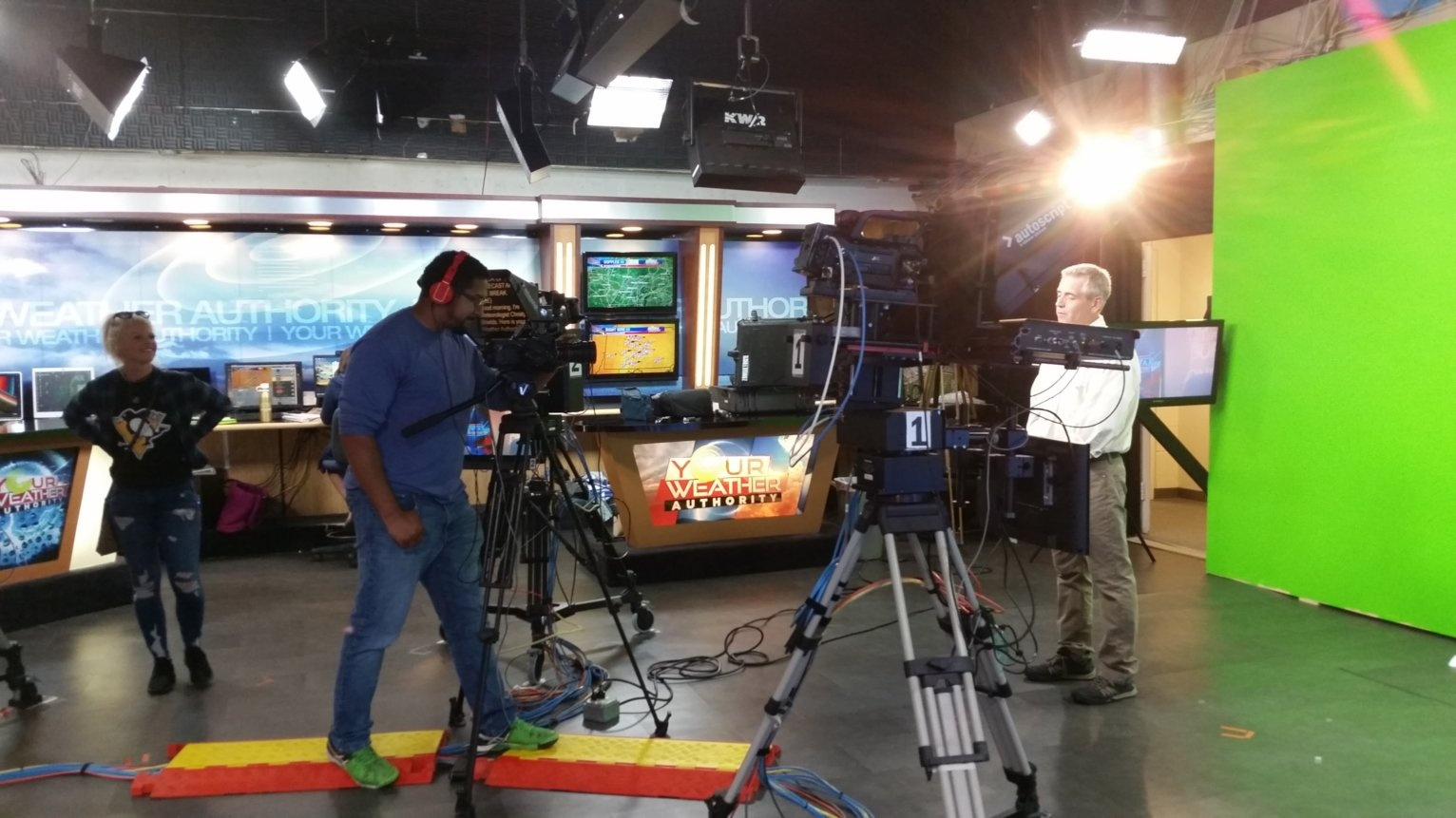 Charlie filming at WTAJ a KPH Commercial