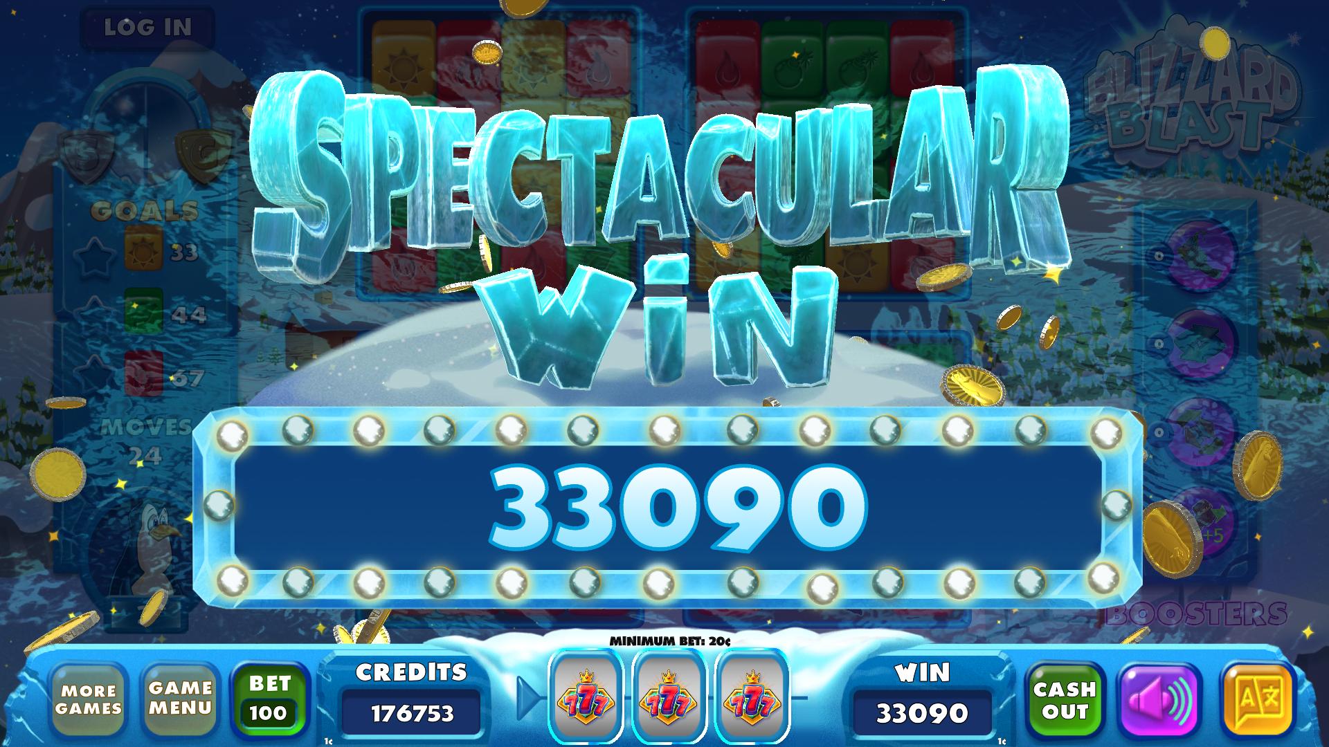 Blizzard Blast Spectacular Win Celebration