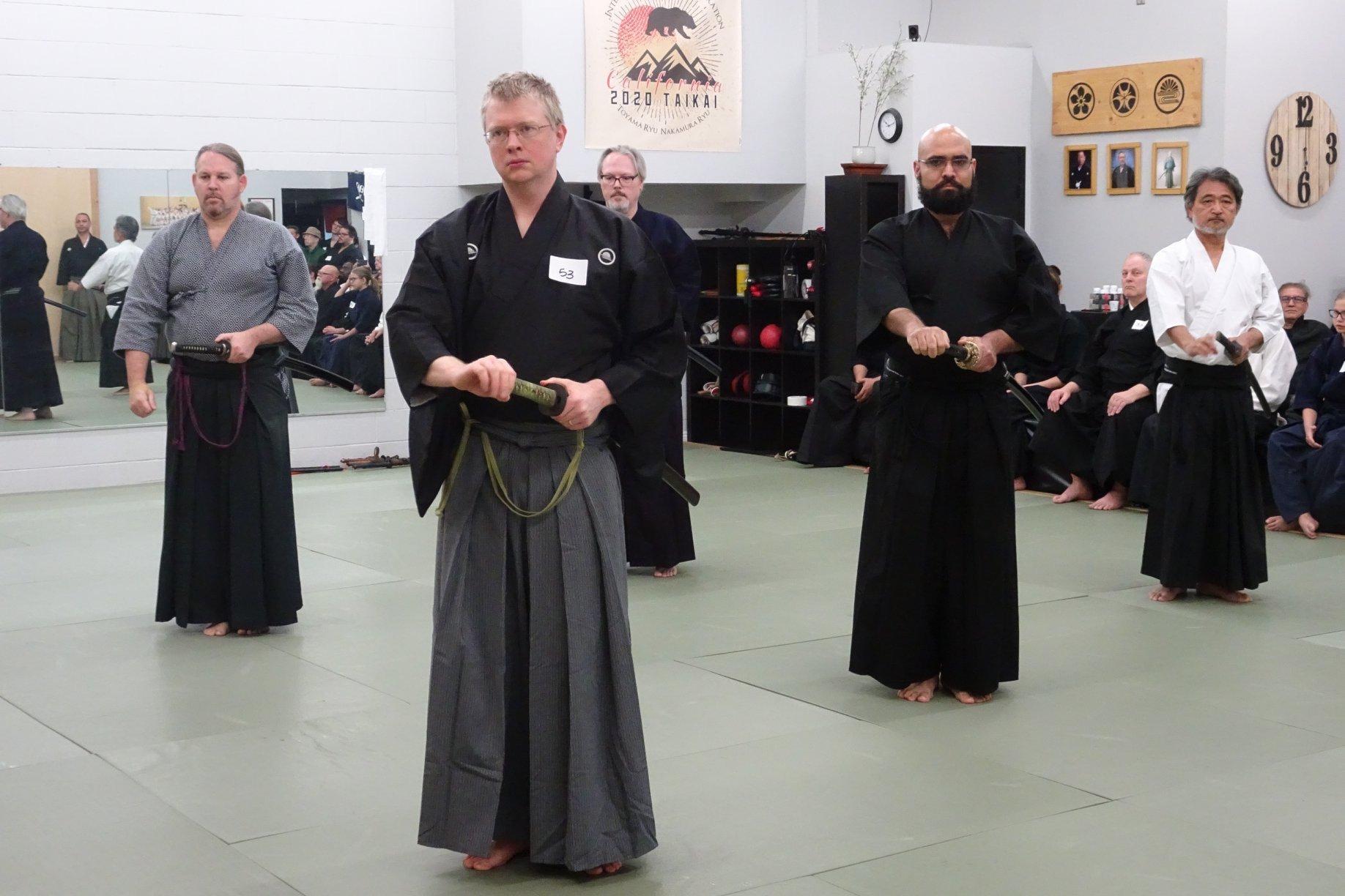 Taikai Toyama Ryu Embu - 4 and 5 Dans from Australia, San Diego, D.C., Maryland and Kenshinkan.