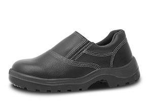 Sapato de elástico com biqueira plástica