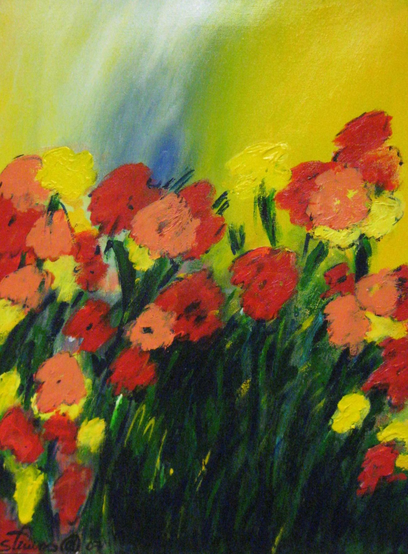 Carter, Spring, 24x18 Acrylic