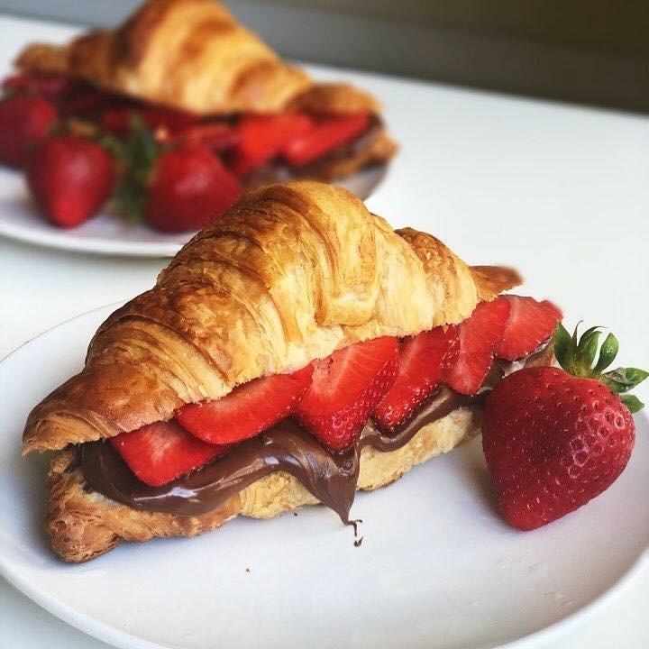 Strawberry and Chocolate Croissant