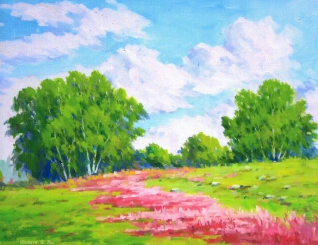 Pasture Flowers, 18 x 24 Oil