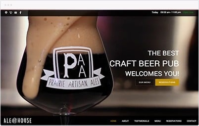 Website Showcase - Brewery Pub
