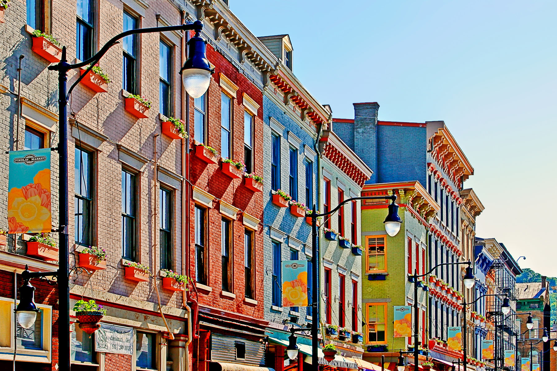 NEXT TO FINDLAY - My wife and I happened to go to Findlay Market the first time they opened on Sunday. The city had spent money dressing up the exterior of the buildings and the sun was shining. It was a beautiful day. I was glad I had my camera.