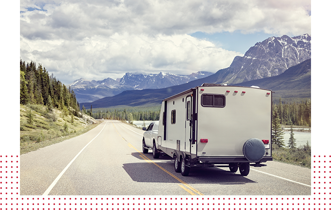 Caravan Or Motor Home Trailer
