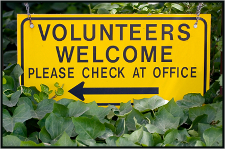 Volunteers welcome - please check at office||||