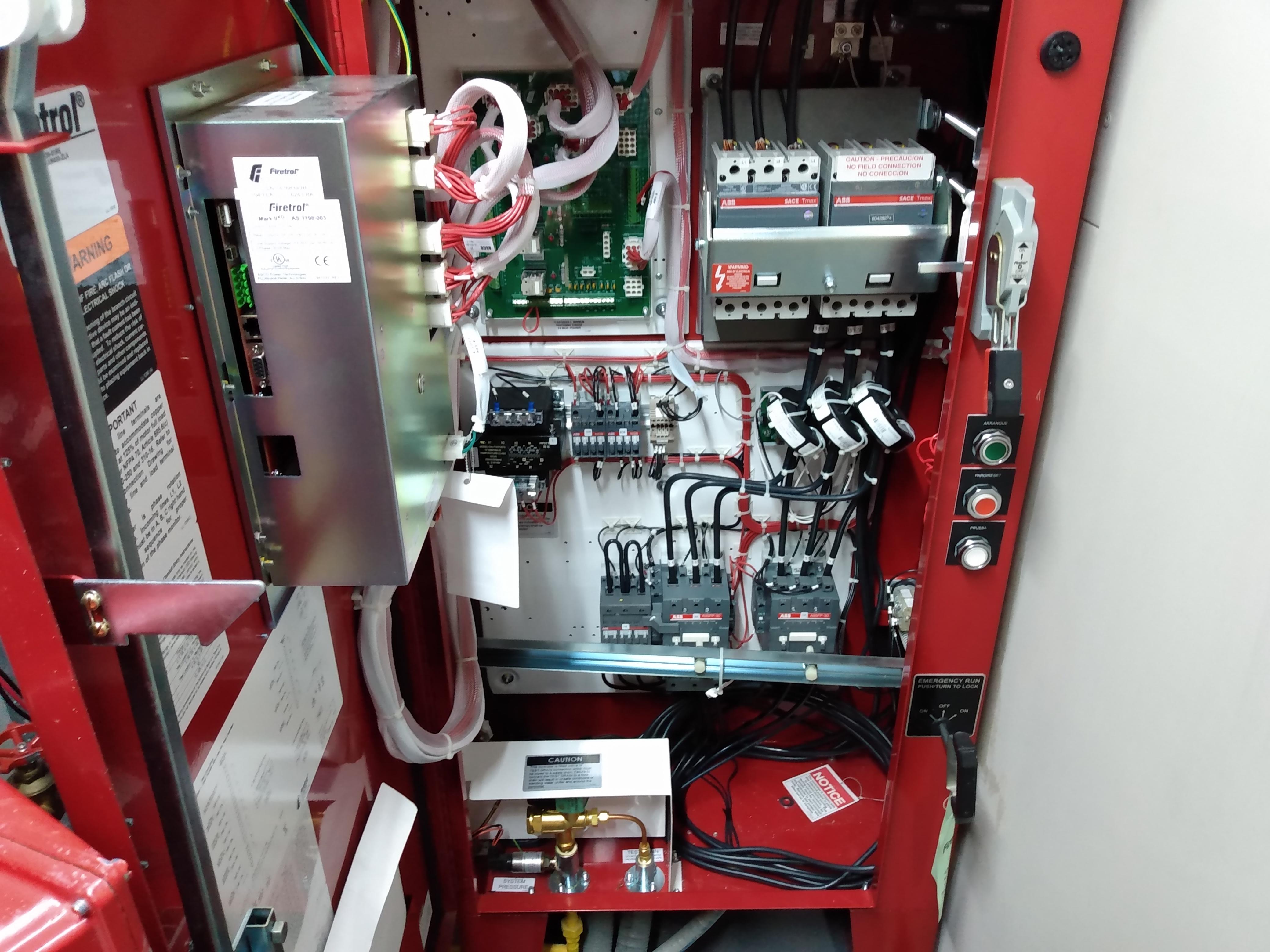 Verificación funcionamiento de cada uno de los componentes del tablero de control.
