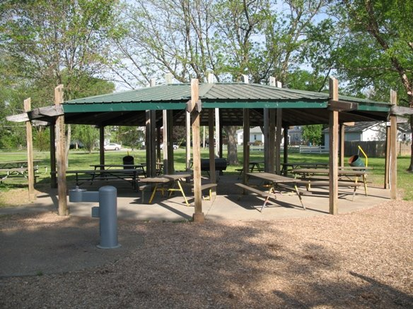 AMAX SHELTER Handicap accessible, Seats 80, Parking, Plug-in electricity, Water fountain, Playground, Large grill in center, Restroom behind shelter, Located on Herbert St., Next to the Bandstand