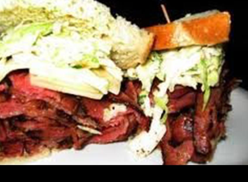 A big pastrami sandwich||||