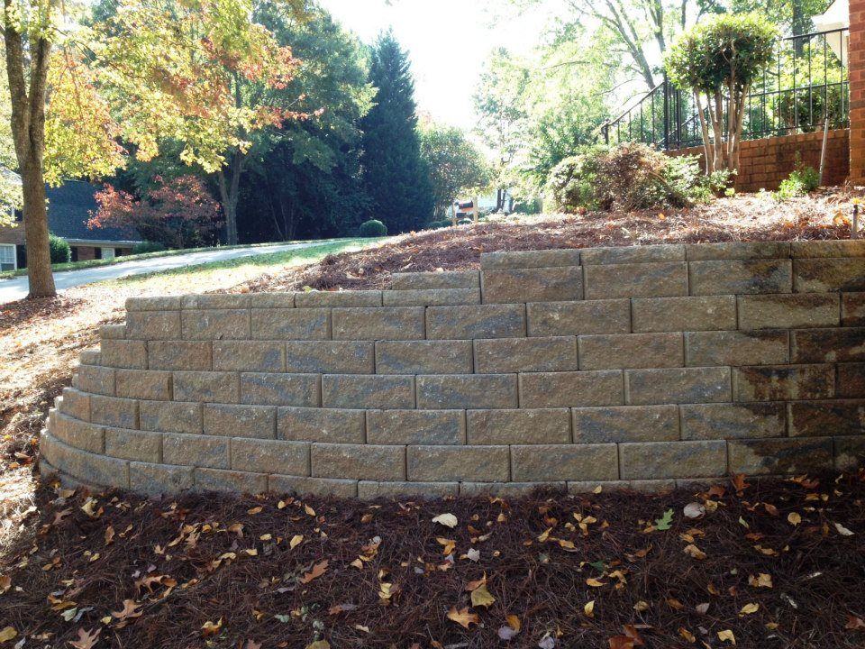 replace old timber retaining walls with decorative block