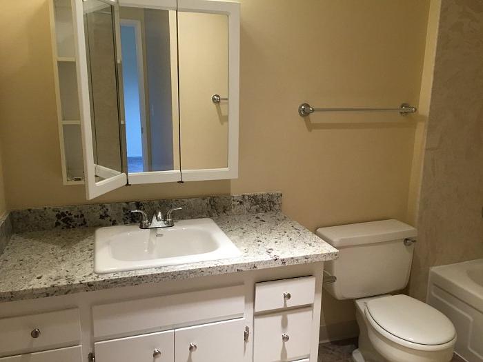 A similar apartment's bathroom