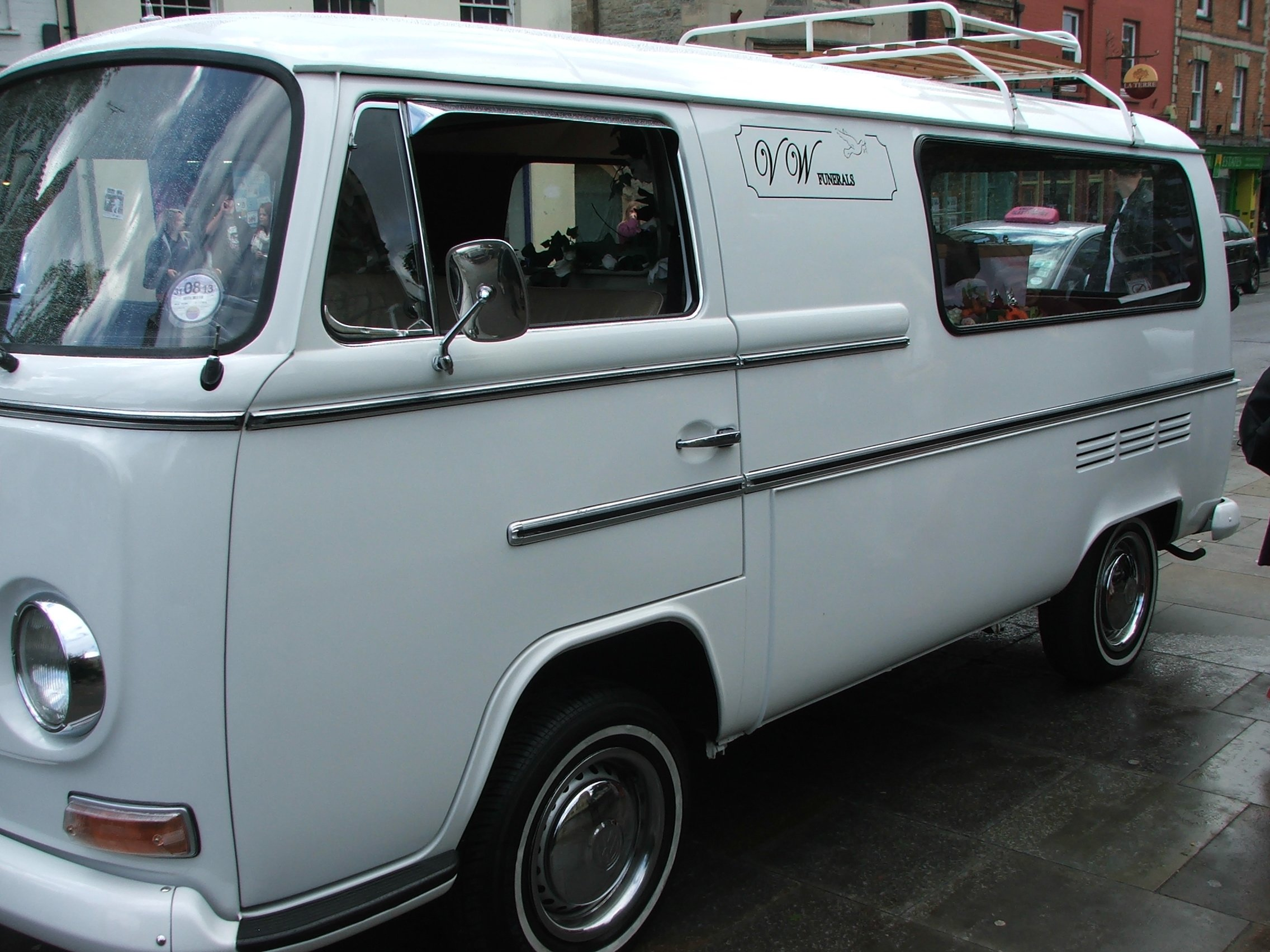 White van hearse