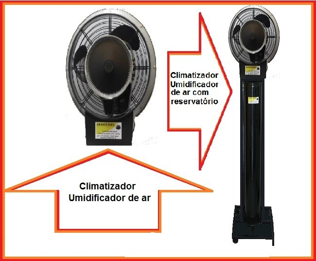 Climatizador Comercial e com reservatório