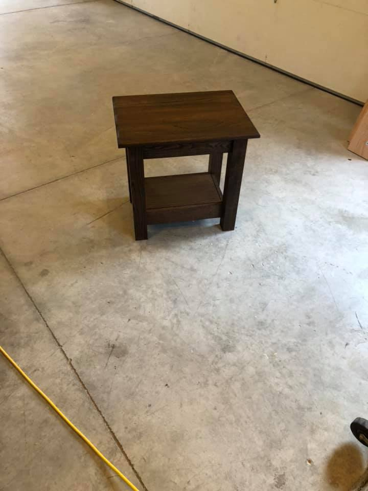 Custom Nightstand Stained