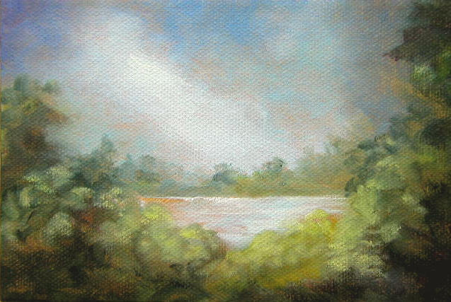 """Breaking Thru - 4""""x 6"""" Oil on Stretched Canvas SOLD"""