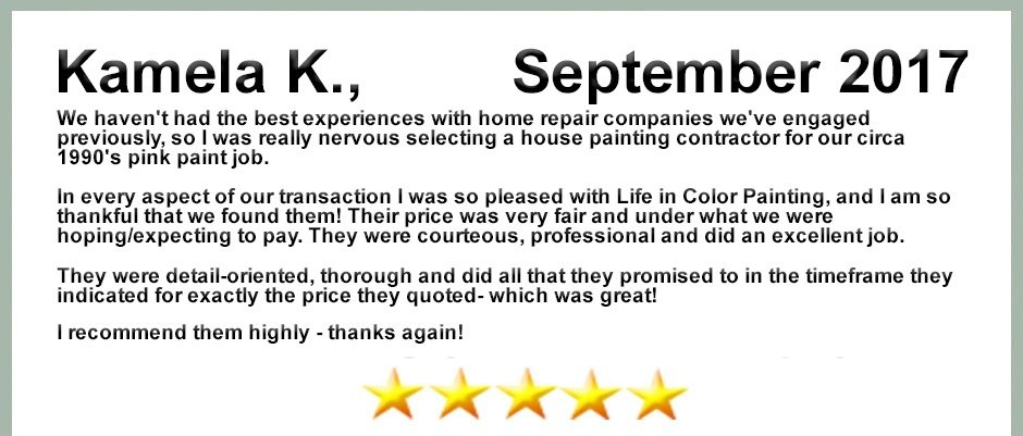 Review From Kamela K.