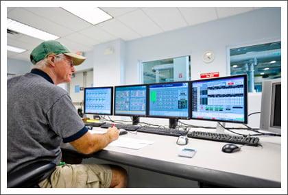 CCTV monitoring station    