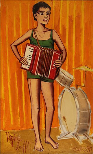 Virginie a l'accordeon  (daughter of the artist)