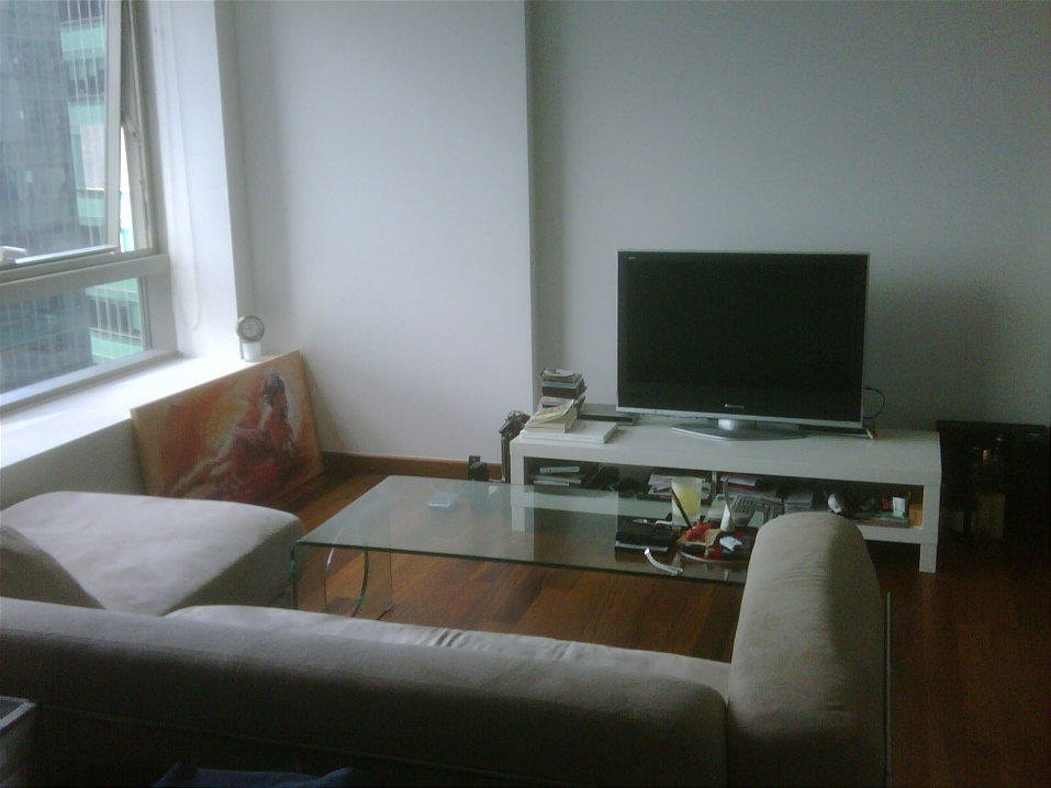 Typical one bedroom living room with LCD TV