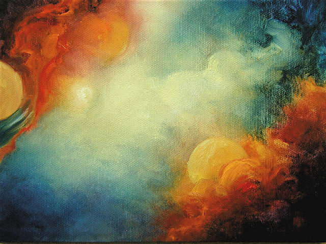 """Sun Birth - 6""""x 8"""" Oil on Stretched Canvas SOLD"""
