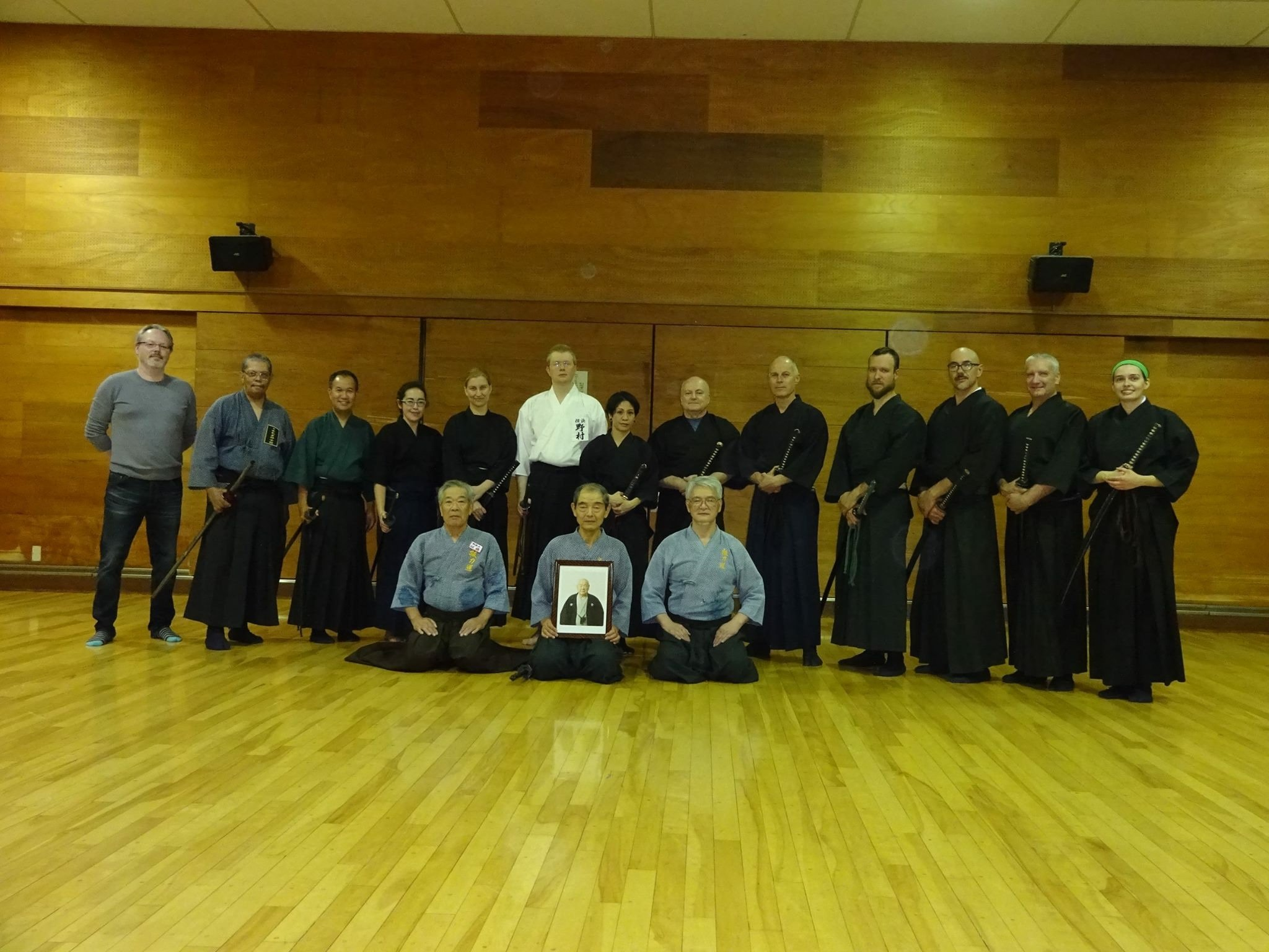 Wednesday Pre-Taikai training group photo. Tex's baggage got lost in the typhoon.