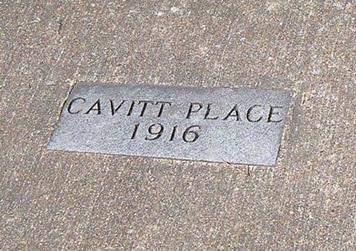 Cavitt Place Marker