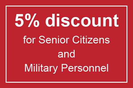 A coupon for a 5% discount on service from Shriver Mechanical for senior citizens and military personnel