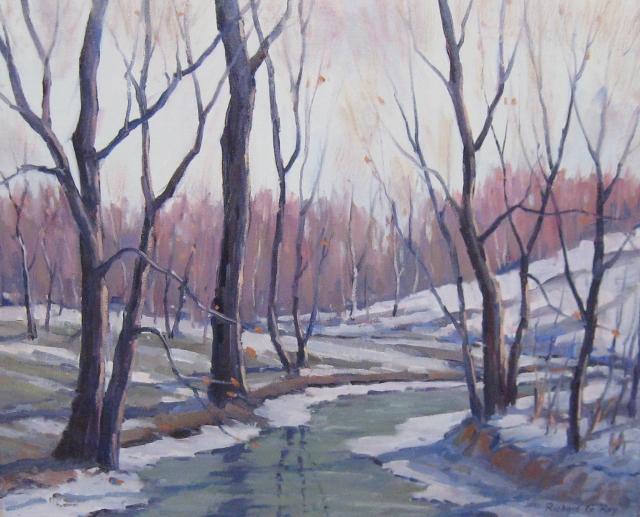 A Stream in Winter, 16 x 20 Oil