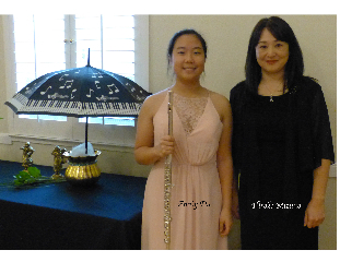 Photo of Emily Du and her accompanist, Hiroko Mizuno.