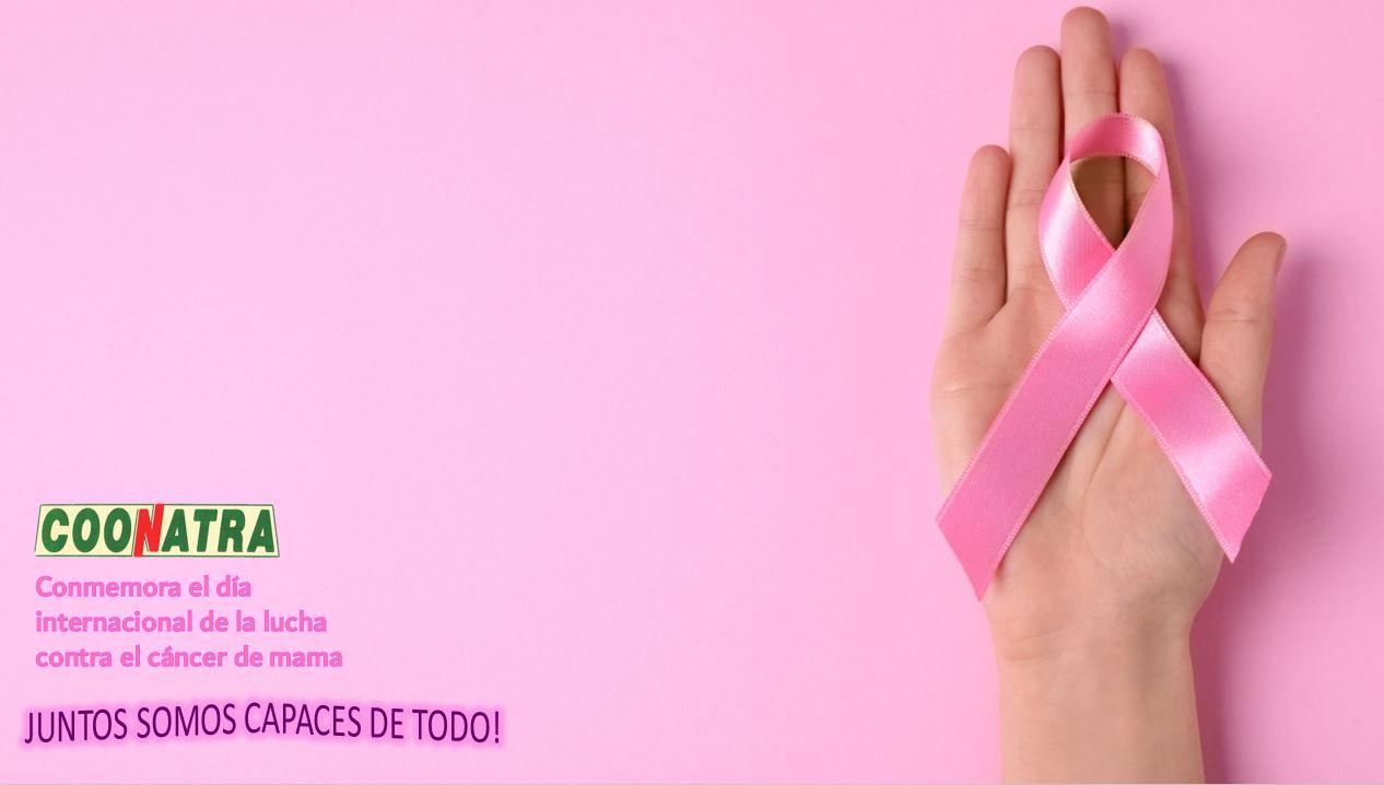 día internacional de la lucha contra el cáncer de mama.