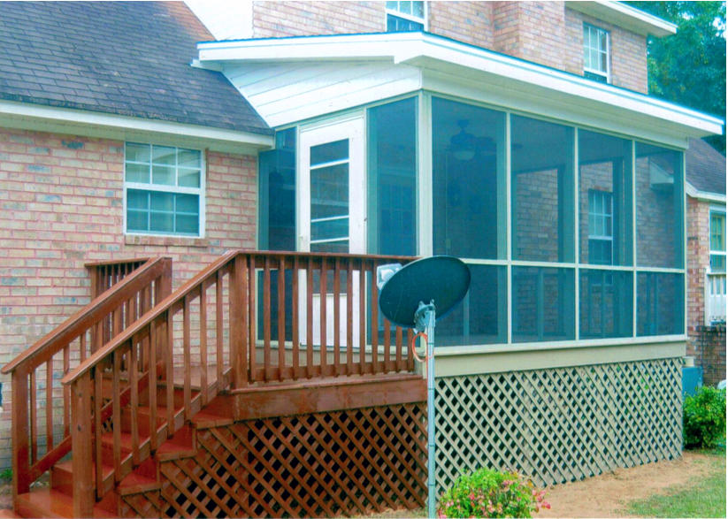 Completed  Screen Porch with Deck Addition Project