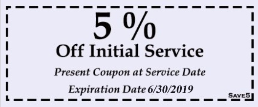 5% Off Initial Service