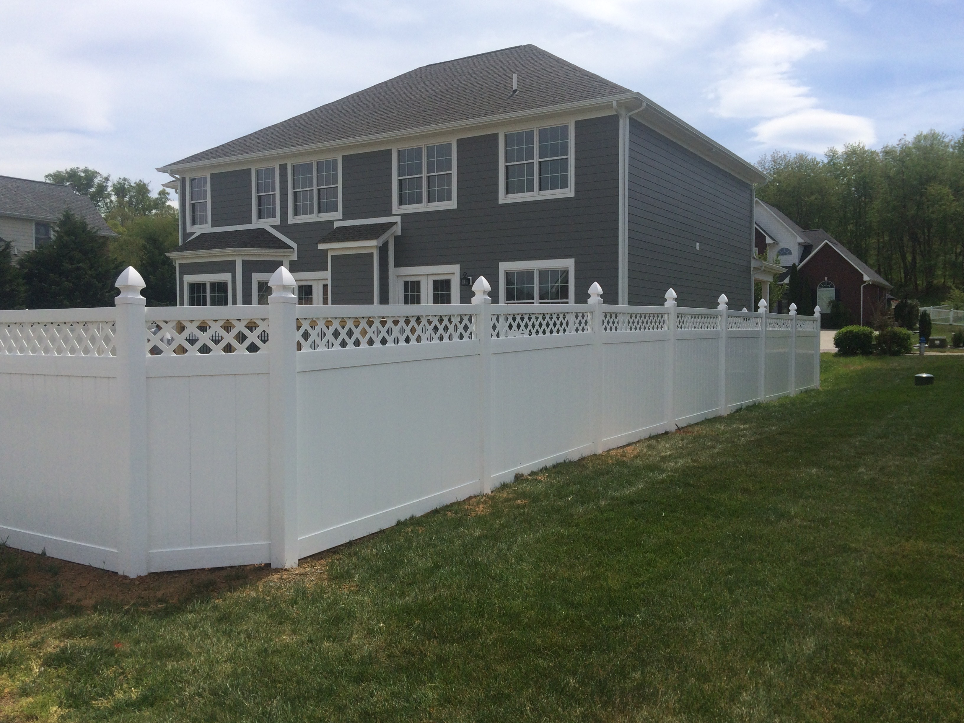 White Wooden Fence 9